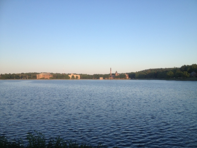 our beautiful view from last night's walk