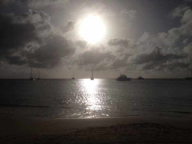 sunset on St. Lucia