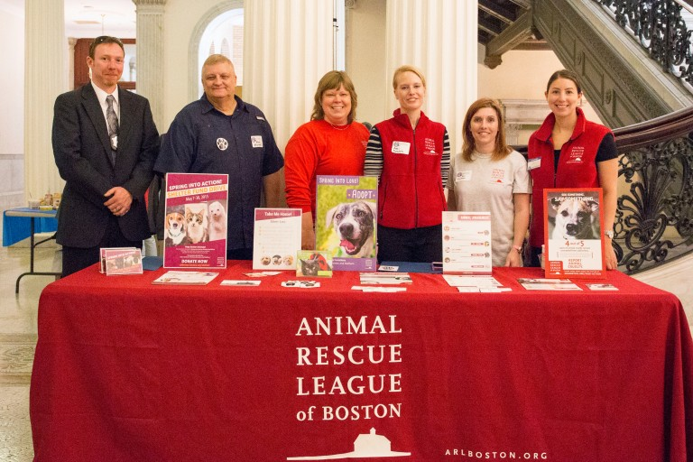 That's me in the grey t-shirt. Wow, I'm short. But I'm surrounded by some amazing people at the MA Humane Lobby Day.