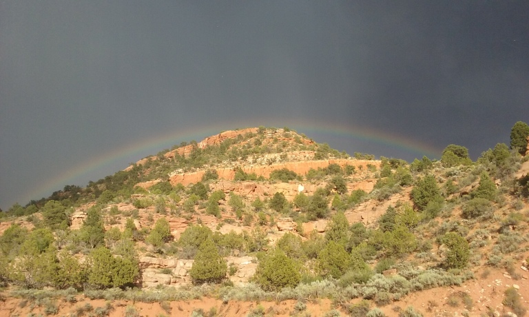 Rainbows are so amazing out here - you can usually see a full one.