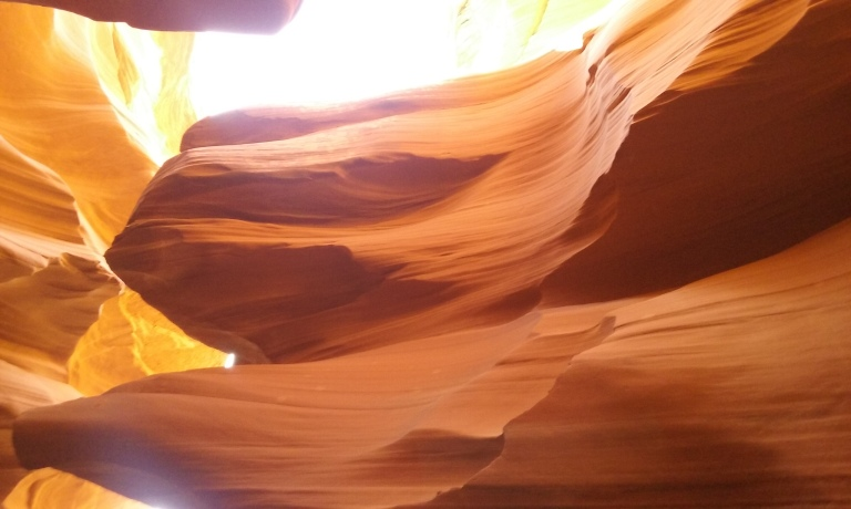 Taken from inside Lower Antelope Canyon, outside of Page, AZ (close to Lake Powell).