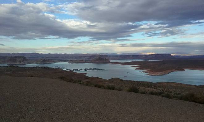 Just one example of the beautiful places I get to visit on my day off. This is Lake Powell which is in both Utah and Arizona.