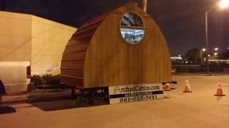 arched cabin on trailer